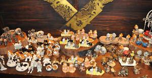 Salzstreuer & Pfefferstreuer, Keramik: Elefant, Hippo, Katze, Hund, Schwein Eule