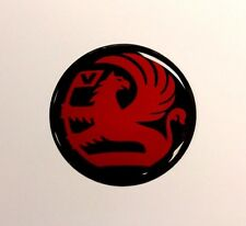 Vauxhall Griffin STICKER/DECAL Rojo en Negro - 60mm de alto brillo acabado de gel de cúpula