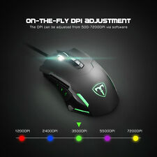 LED USB Gaming Mouse 5 Adjustable DPI Levels Programmable 7 Buttons for PC AU