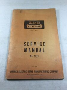 Vintage Warner Electric Brake Service Manual (July 1948 Version)