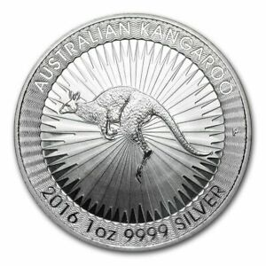 Australian Kangaroo 1 Oz Brilliant Uncirculated.9999 Fine Silver Coin Perth ✅