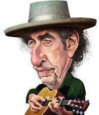 Bob Dylan Caricature 60's Folk Country Rock Blonde on Blonde Sticker or Magnet