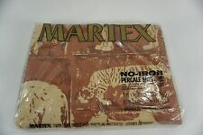 Vintage Martex TWIN flat sheet BAKUBA ANIMALS polyester cotton NIP