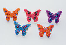 Wings of Flight / Colorful Butterfly Shank Buttons / Jesse James / Quilt & Craft