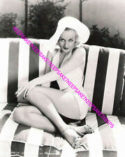 ACTRESS CAROLE LOMBARD, NICE HAT, LEGGY IN A BATHING SUIT AND HEELS PHOTO A-CL27
