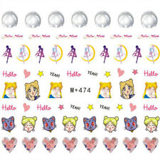 60 Japanese Anime Sailor Moon Water Decals Nail Art Sticker for Nail Polish New