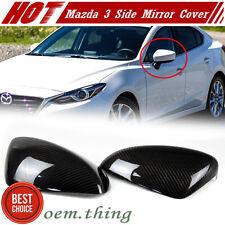 Dry Carbon Fiber For Mazda 3 Sedan Hatchback 3rd Side Mirror Cover Trim 2017