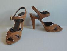 MAX MARA High Heels Pumps Schuhe 40 braun Leder Vintage Retro Swing Rockabilly