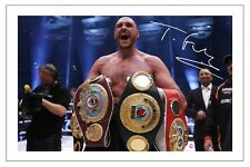 TYSON FURY HEAVYWEIGHT CHAMPION OF THE WORLD BOXING SIGNED AUTOGRAPH PHOTO PRINT