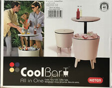 Keter Cool Bar Coolbar All in One Cooler Party Table Coffee Garden Patio Ice Box
