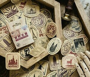 TRAVEL STICKERS Holiday Scrapbook Journal Diary Card Stationery Craft Decoration
