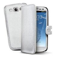 Etui Samsung Galaxy S3  S3 NEO cuir Haute qualité Marque Celly blanc