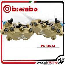 Brembo Coppia Pinze P4.30 / 34 Colore Oro intersasse 40mm Con Pastiglie