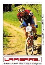 CYCLISME carte cycliste VINCENT JULLIOT  équipe TEAM LAPIERRE VTT PRO