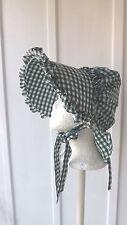 Ozark Bonnets Made From Vintage Pattern Green / White Gingham Design