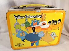 1968 Yellow Submarine: vintage metal lunch box