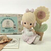 Precious Moments A Growing Love E-0008 1987 Sunflower Flower Spring