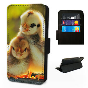 Cute Chicken Chick - Flip Phone Case Wallet Cover Fit Iphone & Samsung XR S10 11