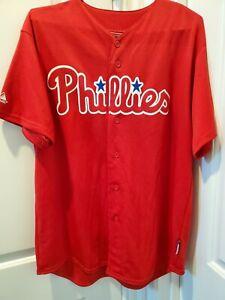 MLB Philadelphia Phillies Majestic Jersey Men's Size Large
