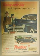 Pontiac Car Ad: Going Over Big with Buyers from 1941 ! Size: 11 x 15 inches