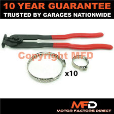 CAR ATV FITS 99% OF VEHICLES CV BOOT CLAMPS PAIR X 10 & EAR PLIERS