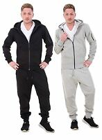 Mens Tracksuit Branded Brushed Fleece Hooded Zipper Fashion Casual Wear S to XL