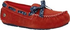 UGG Girls Youth Kids Size 6 Red Moccasin Shoes Slip On Slippers Ryder Bandana