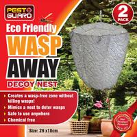 WASP DECOY NEST 2 PACK SIMULATED DETERRENT ANTI NESTS DETER WASPS FREE GARDEN