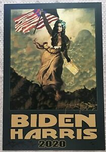 SIGNED By STANLEY MOUSE 'BIDEN/HARRIS 2020~MS.LIBERTY' GILCEE PRINT 13 x 19