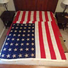 "WWII 48 Gold Stars Burial Coffin Flag Sewn Large Size 112"" x 56"" Cotton American"