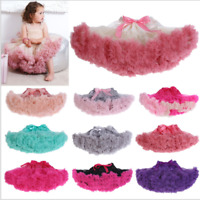 UK Girl Tutu skirt party Pettiskirt Fluffy Kid Petticoat Party Dance Dress kids
