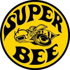 2 X SUPER BEE DODGE STICKERS SIGNS