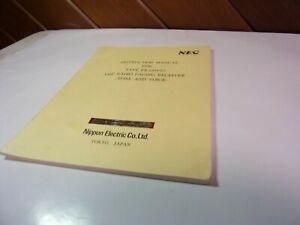 Vintage Service Manual NEC PAGER PR-150V2 TONE VOICE