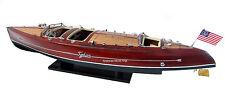 "Typhoon Speed Boat 38"" - Handmade Wooden Model Boat NEW"
