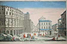 VUE FAMEUX THEATRE MARCELLUS ROME Gravure VUE OPTIQUE Italie Daumont XVIII°