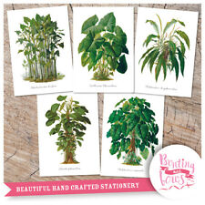 Botanical Plant Prints A4 Vintage Reproduction Wall Art set of 5 Garden Decor