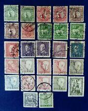 Sweden 27 Stamps Various c1910-1955 incl Gustav V