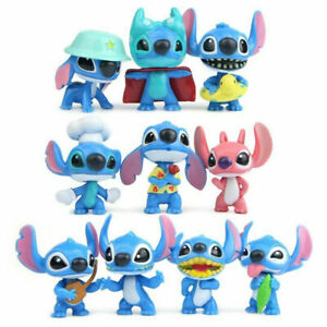 Lilo And Stitch Anime 10 PCS Action Figure Kids Toy Doll Gift Cake Topper Decor