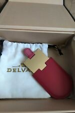 DELVAUX LEATHER / METAL PLATE FOR PERSONAL ENGRAVING NEY