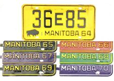 1964 Manitoba License Plate #36E85 W/ ALL TABS 1965 1966 1967 1968 1969 1970 NR