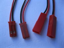 1000 Sets Male & Female JST 2 Pin Connector Plug with 150mm Wire Cable 22AWG