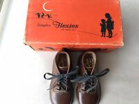 Vintage Children's Shoes, Simplex Flexies, Brown, Air Cushion Shoe, Size 5C