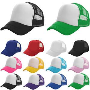 Women Men Meshback Baseball Caps Snapback Adjustable Breathable Outdoor Sun Hat