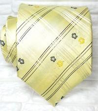 Blumen plaid krawatte Neu 100% Seide Top Qualität Made in Italy Morgana tarten