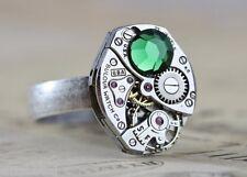 Silver Unisex Man Ring Vintage Watch Ring Adjustable Men Steampunk Jewelry Him