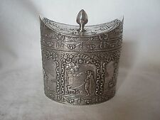 Tea Caddy Vittoriano Olandese Argento Sterling London 1893 (importazione)