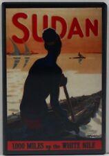 """Sudan Africa Travel Poster 2"""" X 3"""" Fridge / Locker Magnet."""