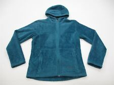 MARMOT Women Size M Mountain Teal Blue Wiley Fleece Hoodie Jacket