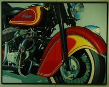"Günther J. Herrmann ""Motorrad - Indian"" 1997, Fotorealismus, Öl, signiert"