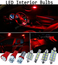 NEWEST Red Interior LED Lights Package Bulb SMD For 1998-2002 Honda Accord Sedan